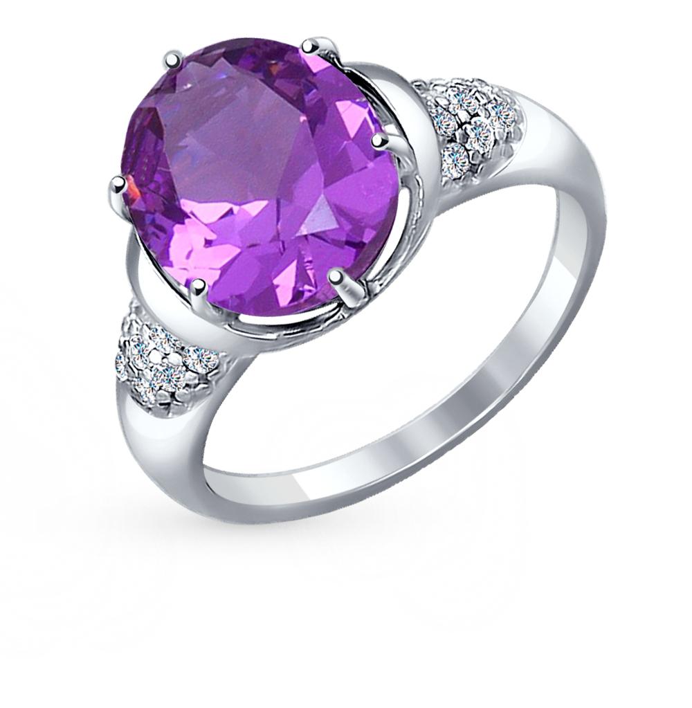 Фото «серебряное кольцо с фианитами и наноситалами»