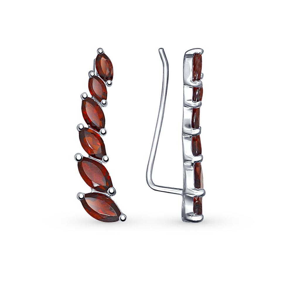 Фото «серебряные серьги с гранатами»