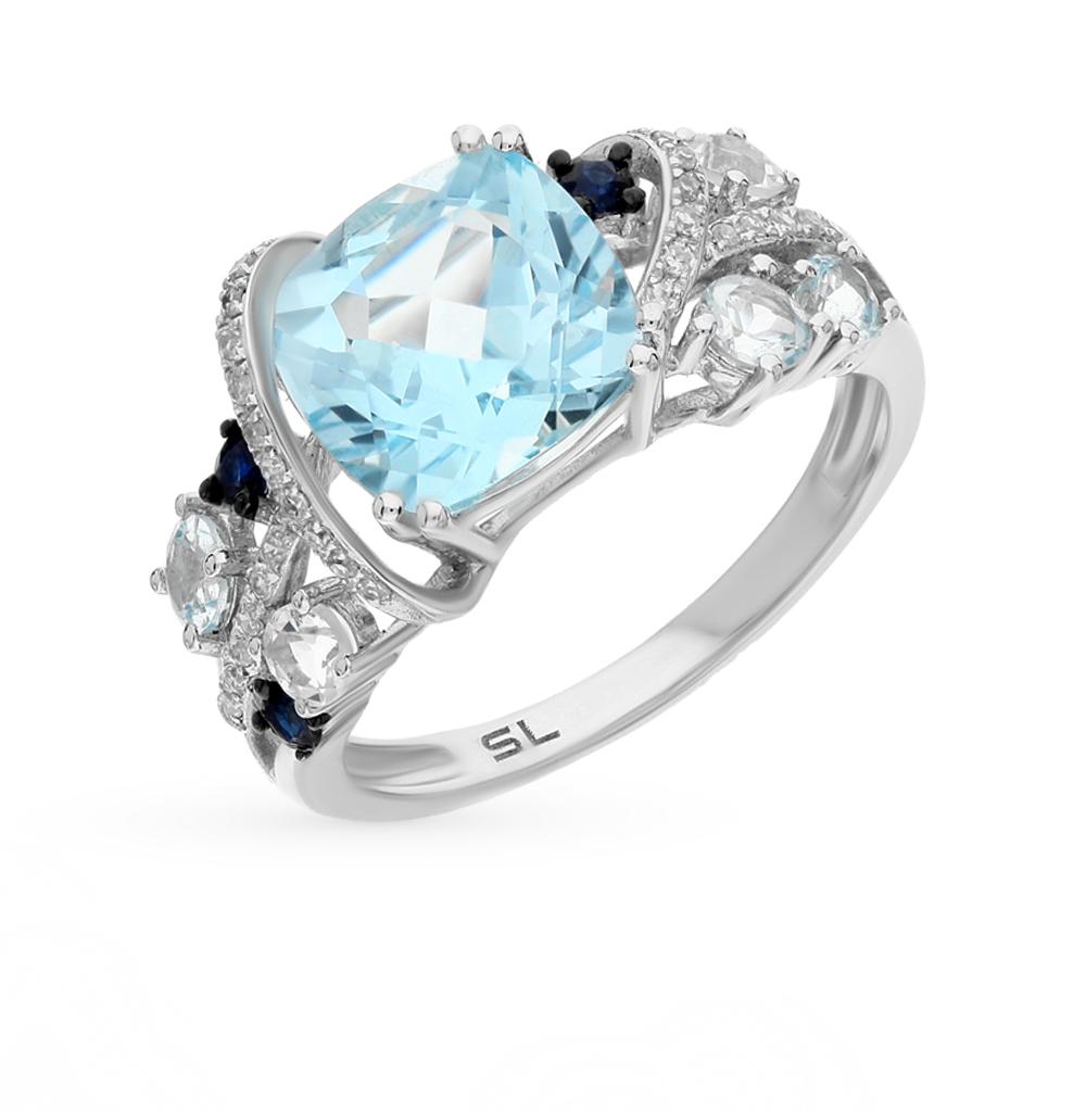 Фото «золото кольцо с бриллиантами, топазами и сапфирами»