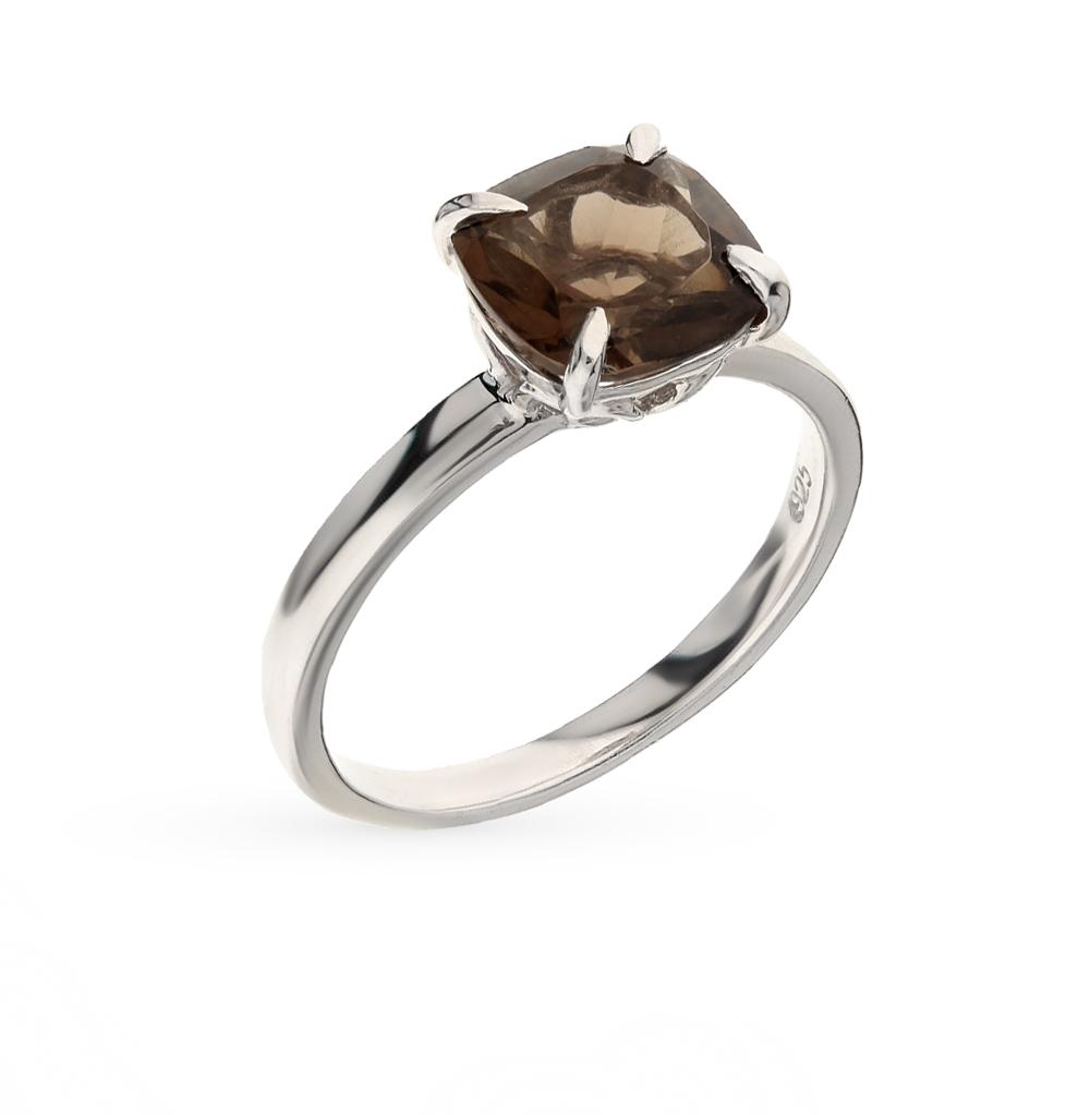 Фото «серебряное кольцо с раухтопазами (кварцами дымчатый)»