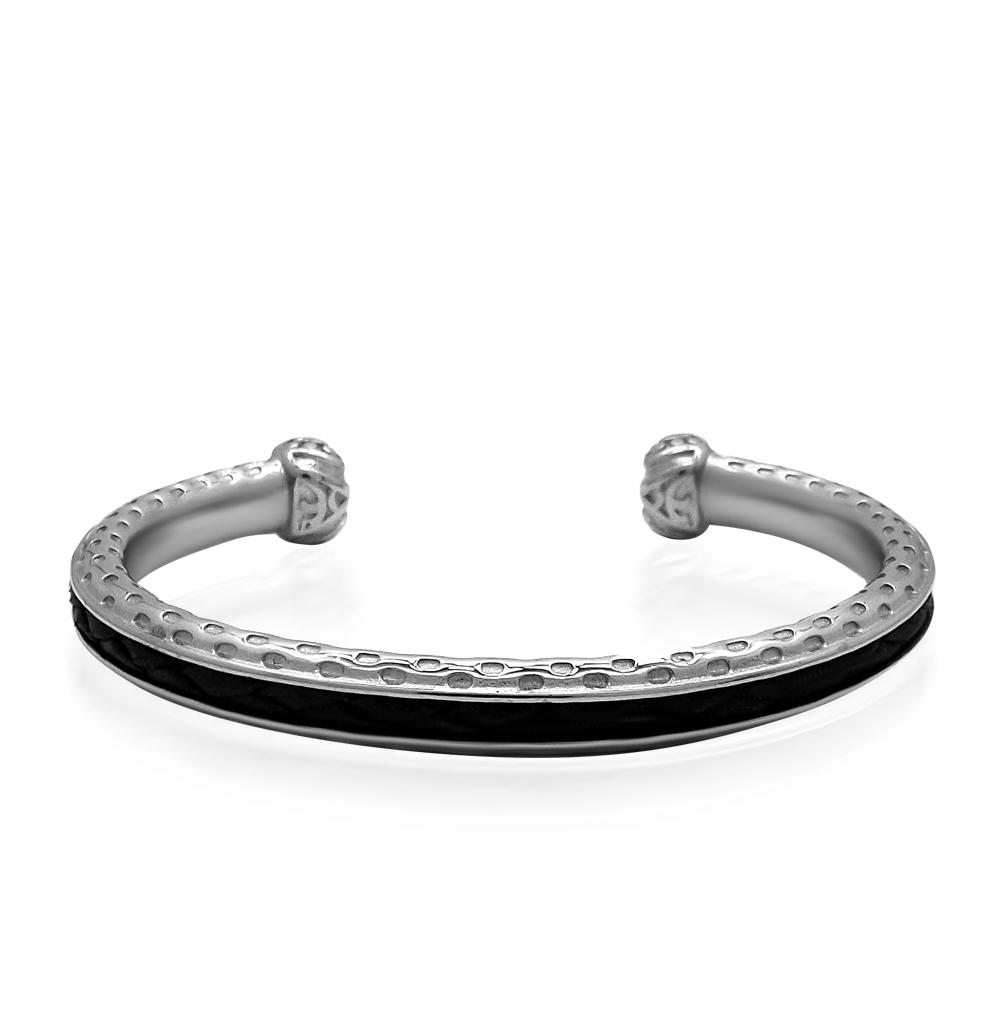 Фото «браслет из стали, кожи и стали с сталью»