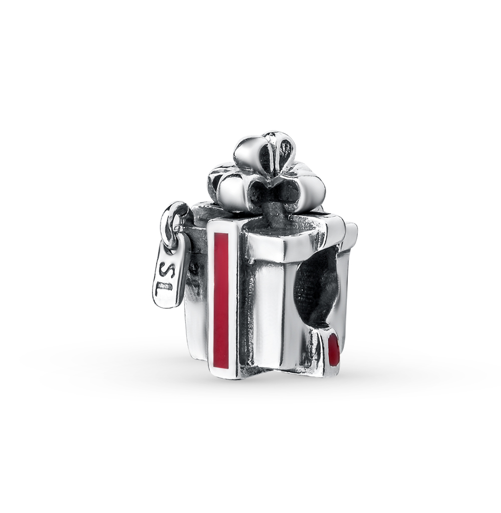 Фото «серебряная подвеска - шарм с эмалью»