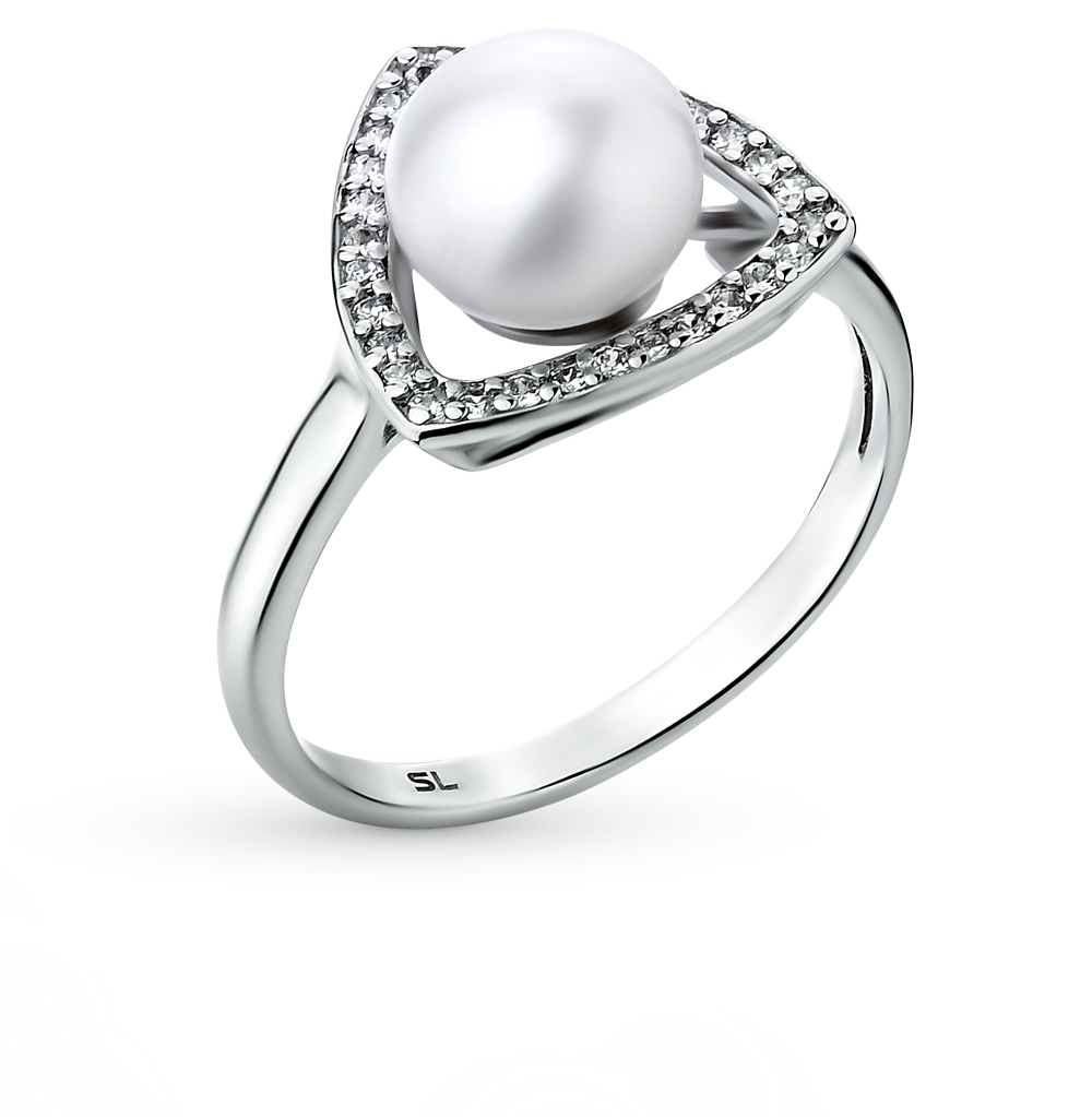 Фото «золотое кольцо с бриллиантами, изумрудами и жемчугом»