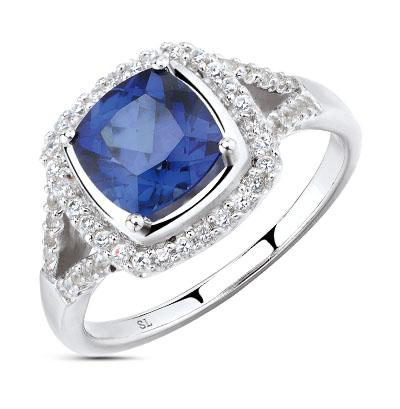 Фото «серебряное кольцо с алпанитами и фианитами»