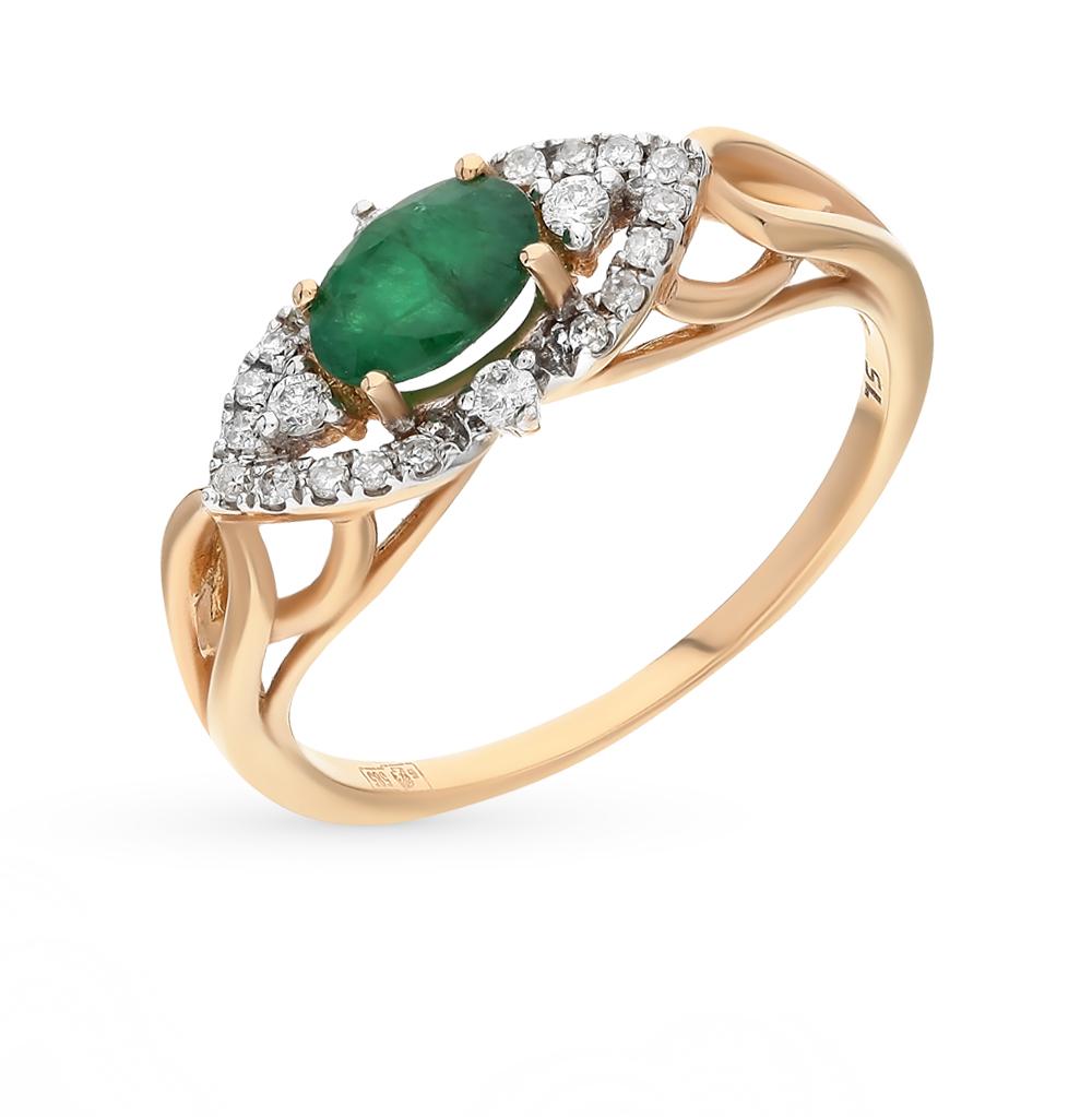 Фото «золото кольцо с бриллиантами и изумрудами»