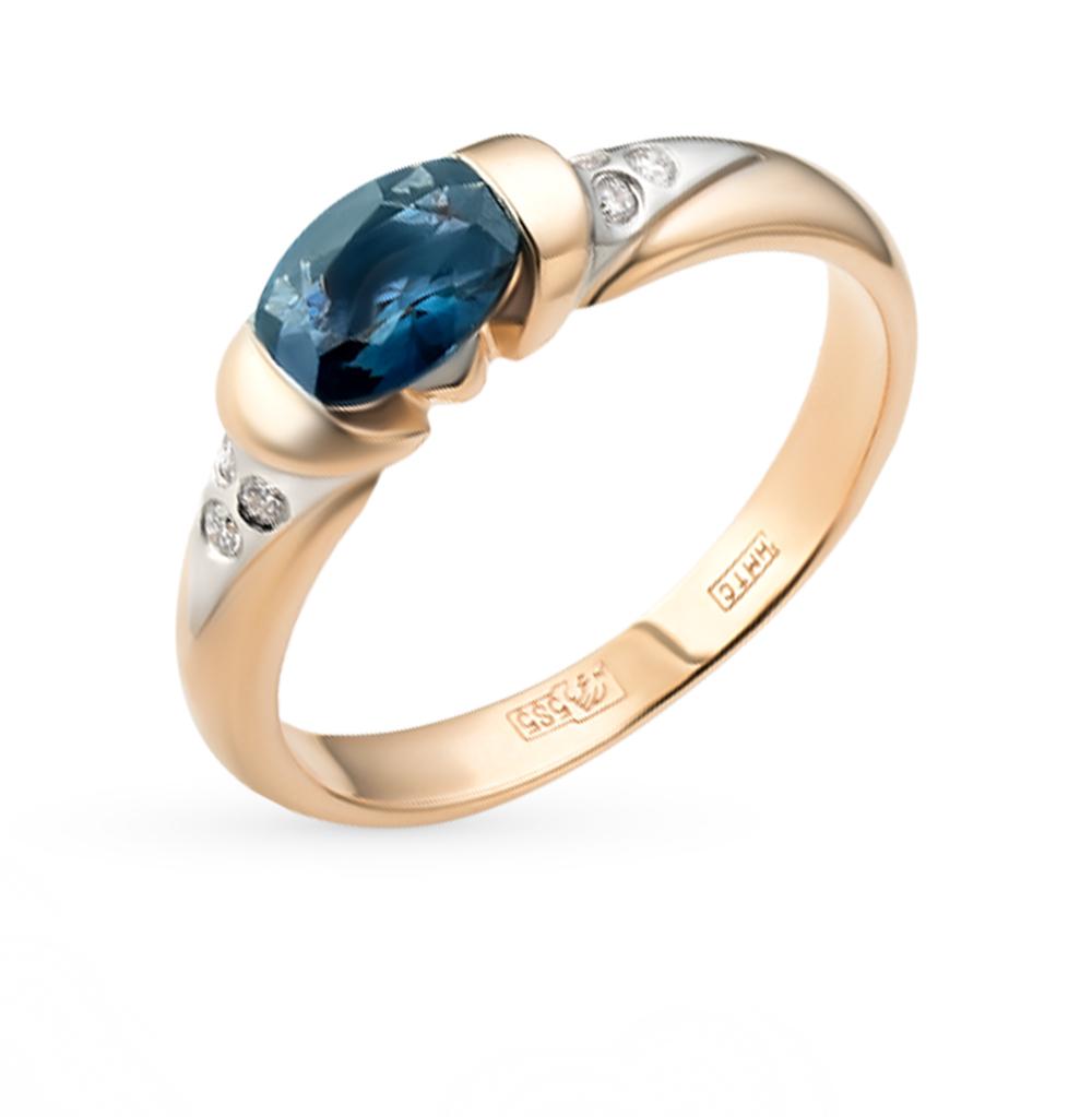 Фото «золотое кольцо с бриллиантами, аметистами, цитринами, топазами, фианитами и сапфирами»