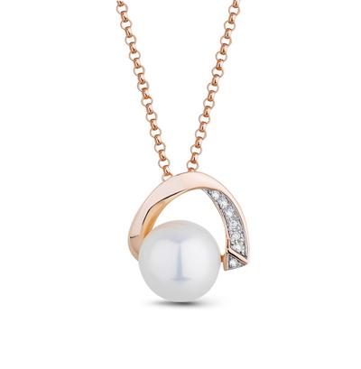 Фото «золотая подвеска с бриллиантами и жемчугом»