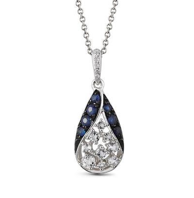 Фото «золотая подвеска с бриллиантами, топазами и сапфирами»