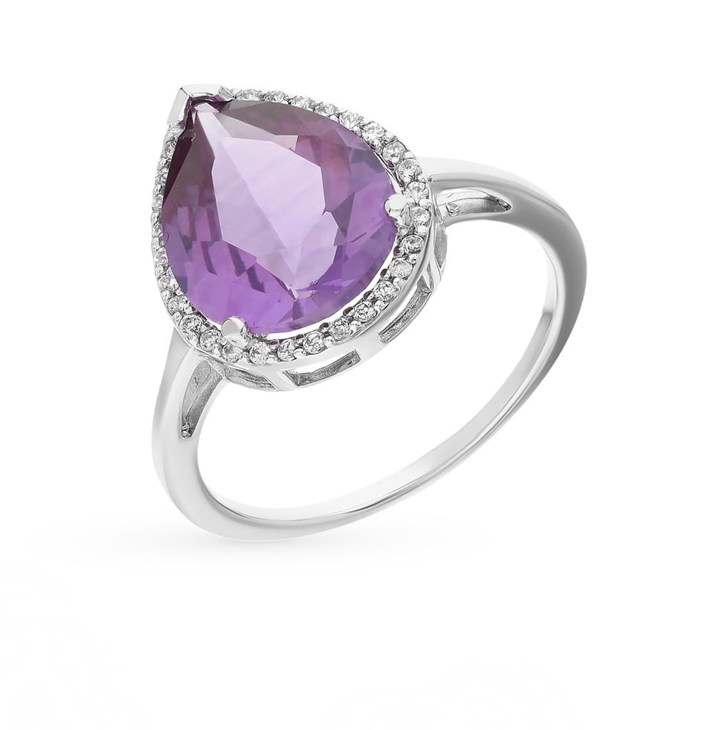 Фото «серебряное кольцо с александритами и фианитами»