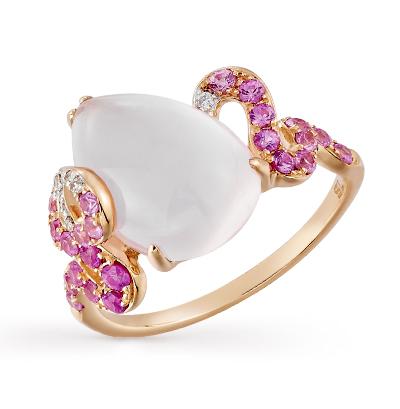 Фото «золотое кольцо с кварцами и сапфирами»