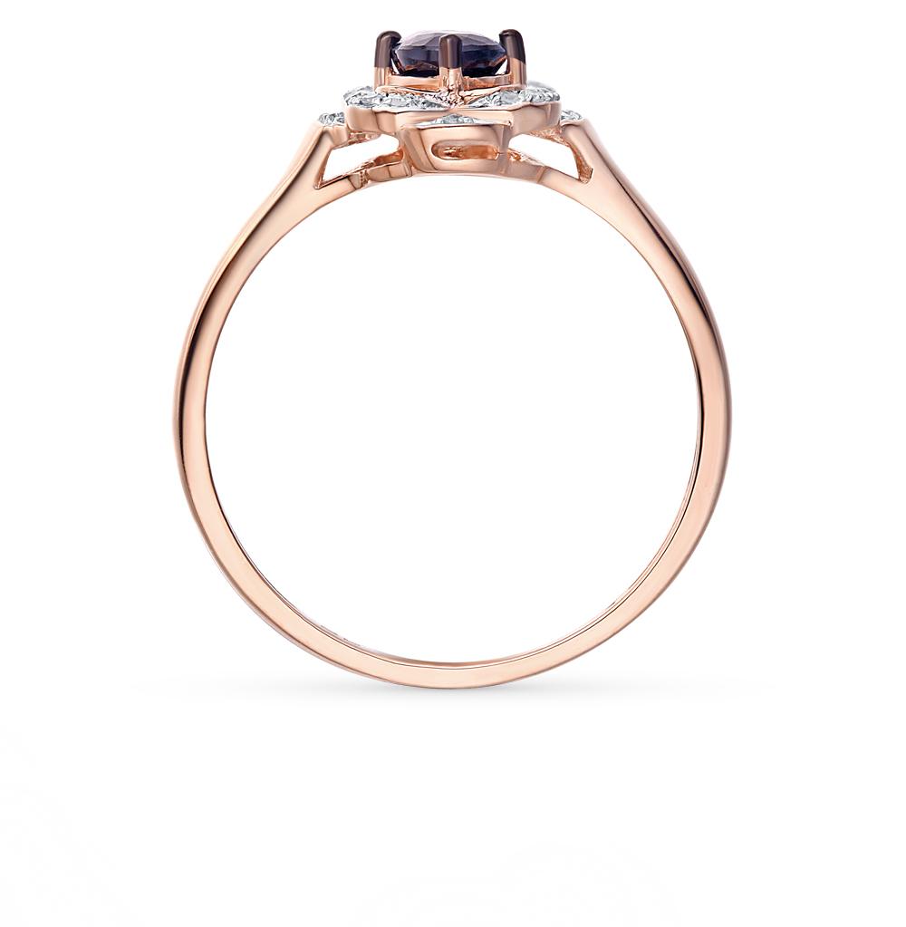 золотые кольца с сапфирами и бриллиантами