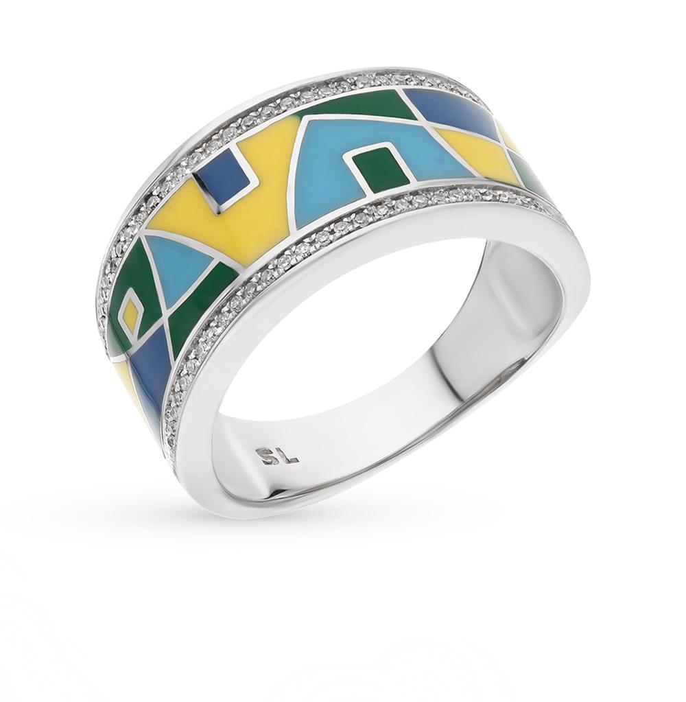 Фото «кольцо с бриллиантами и эмалью»