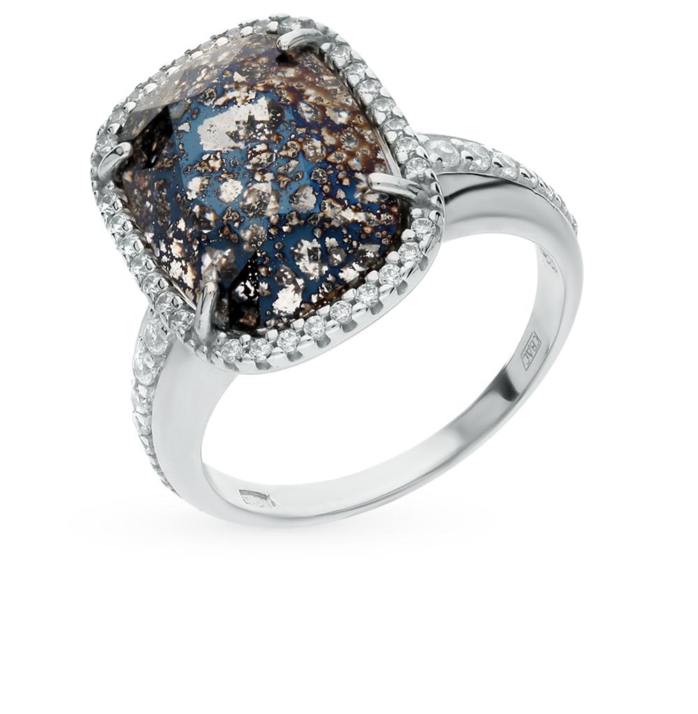 Фото «серебряное кольцо с кристаллами swarovski и фианитами»