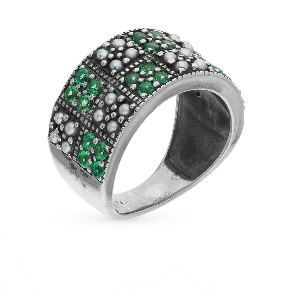 Фото «серебряное кольцо с бериллами и жемчугом»