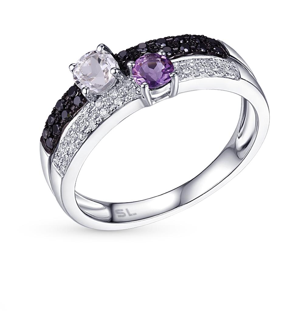 Фото «золотое кольцо с бриллиантами, аметистами и топазами»