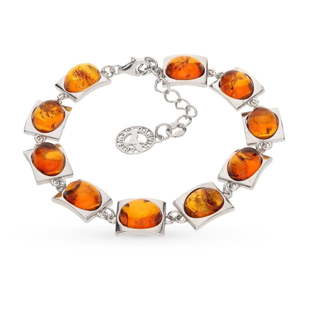 Фото «серебряный браслет с янтарями»