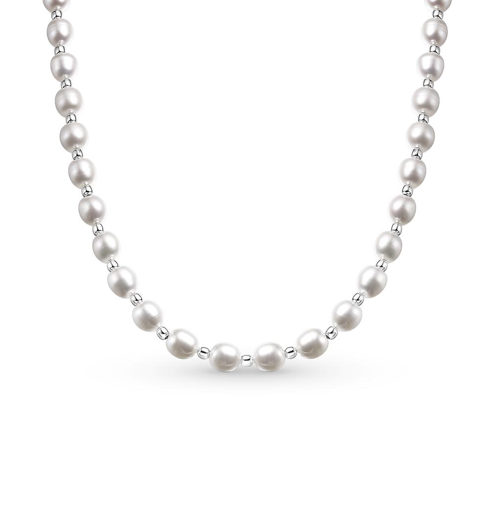 Фото «серебряное шейное украшение с жемчугами»
