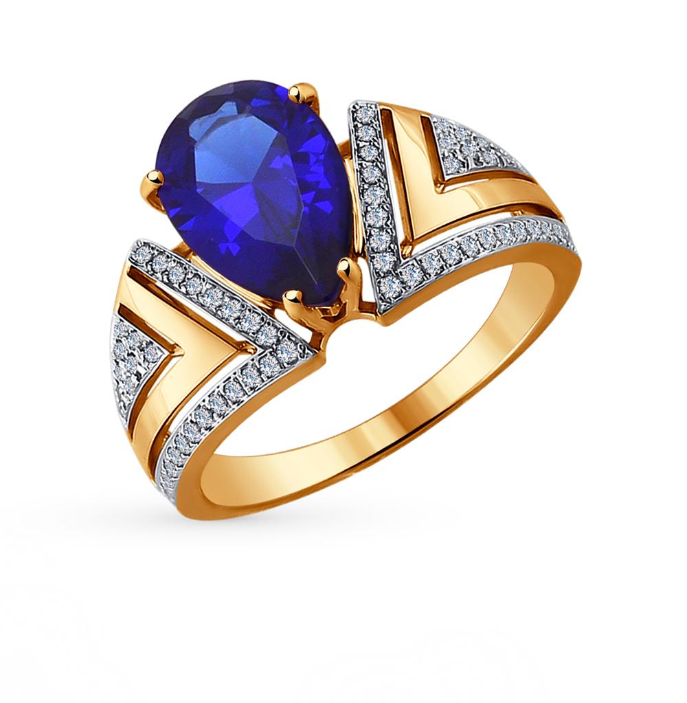Фото «золотое кольцо с корундами синтетическими и бриллиантами»