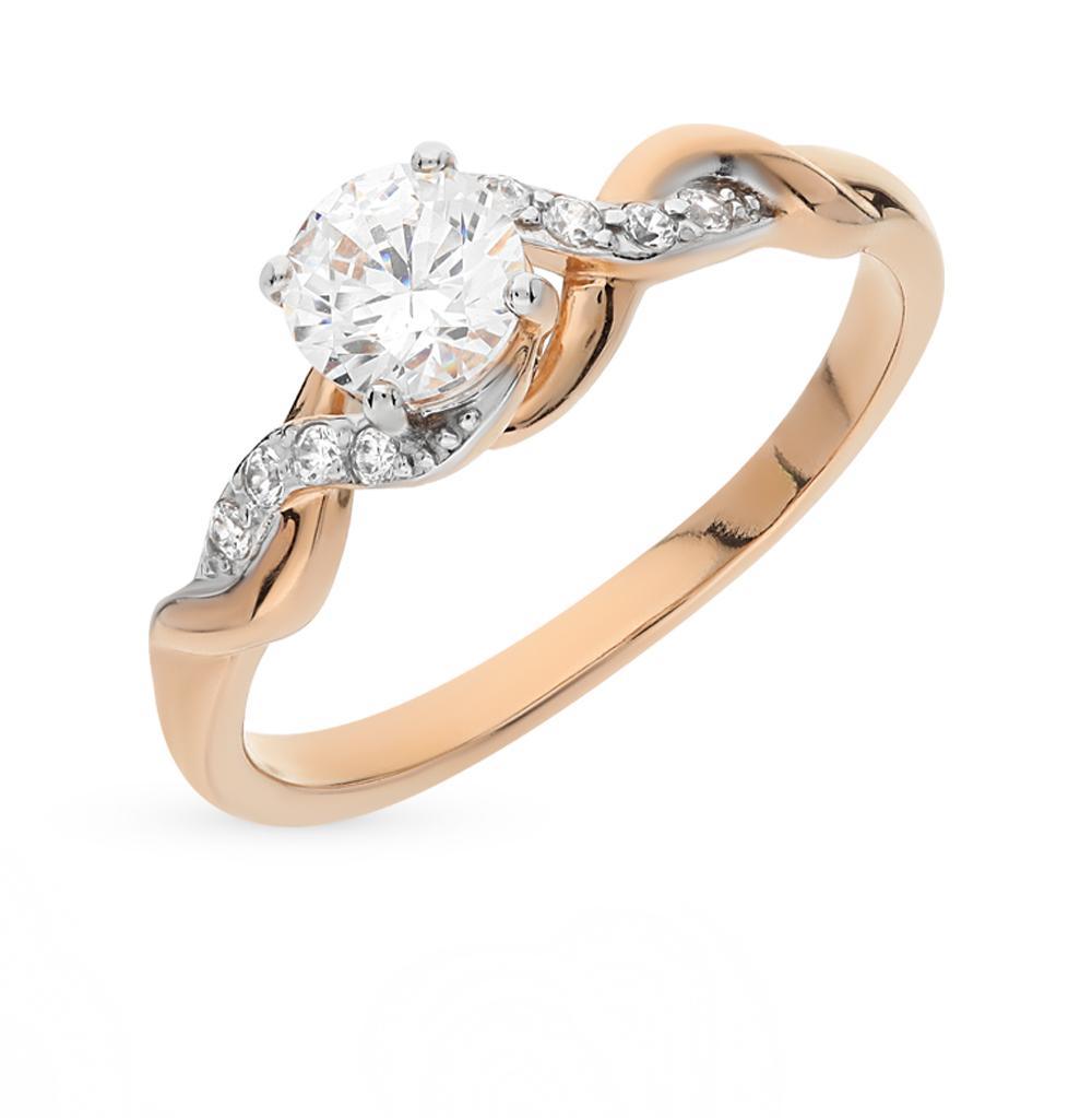 Фото «золотое кольцо с фианитами и кристаллами swarovski»