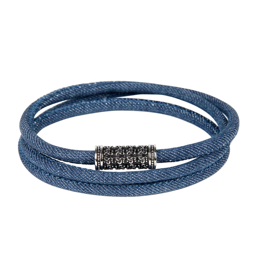 Фото «браслет из текстиля с со сталью»